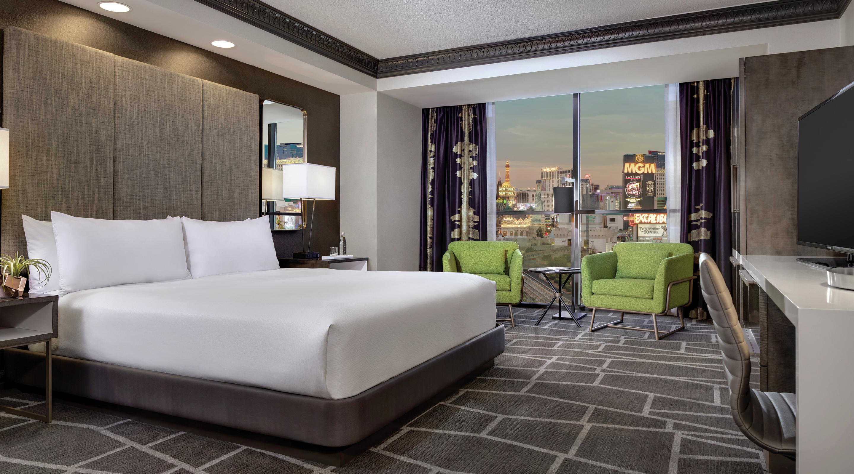Image of the remodeled Tower Premium King Room