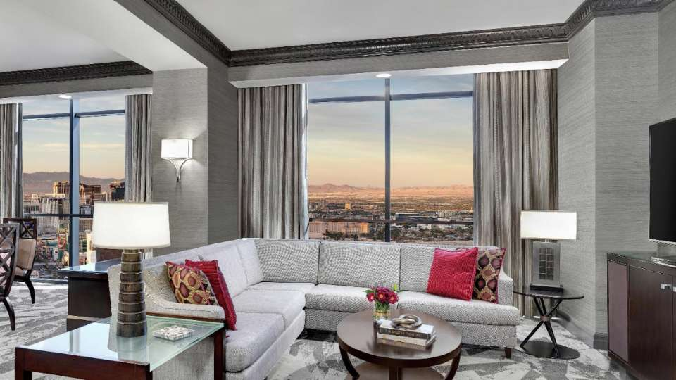 Living room with a view in the Tower Premier Suite.