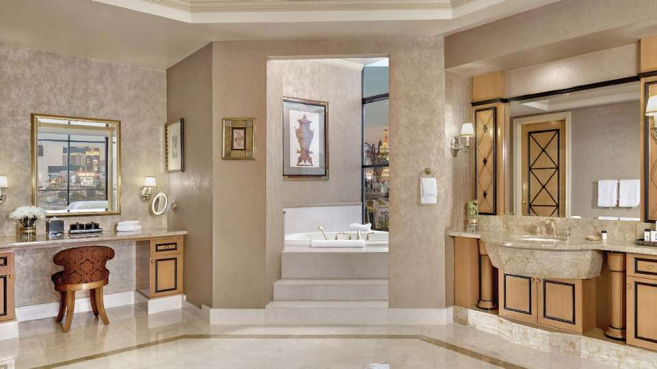 Bathroom of a Two Bedroom Penthouse Suite.