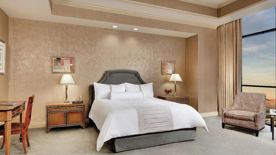 King bedroom of a Two Bedroom Penthouse Suite.
