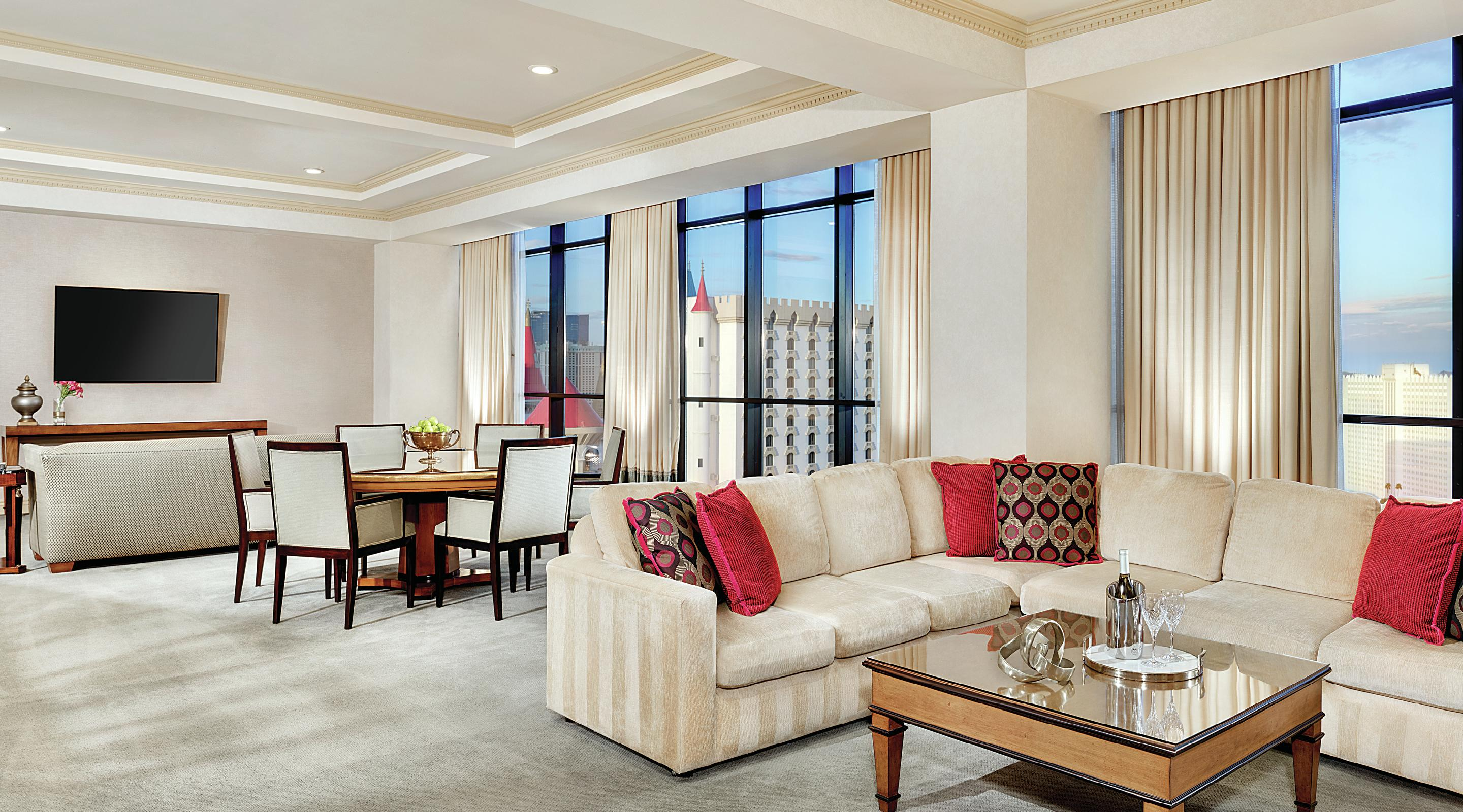 Living room of a Two Bedroom Penthouse Suite.