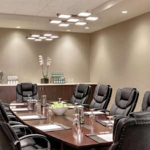 Luxor boardroom set-up is perfect for meetings.