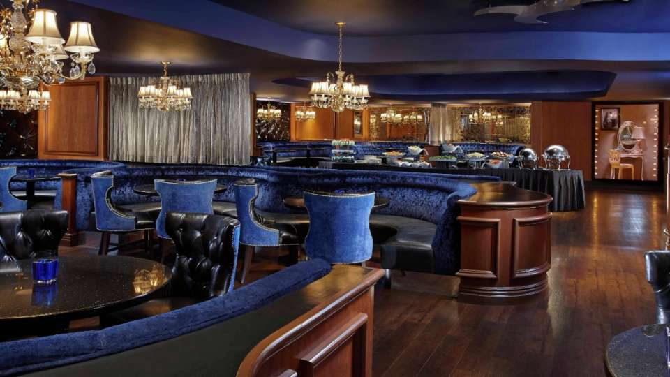 The Blue Room of the Velvet Room meeting space can hold up to 125-150 guests.