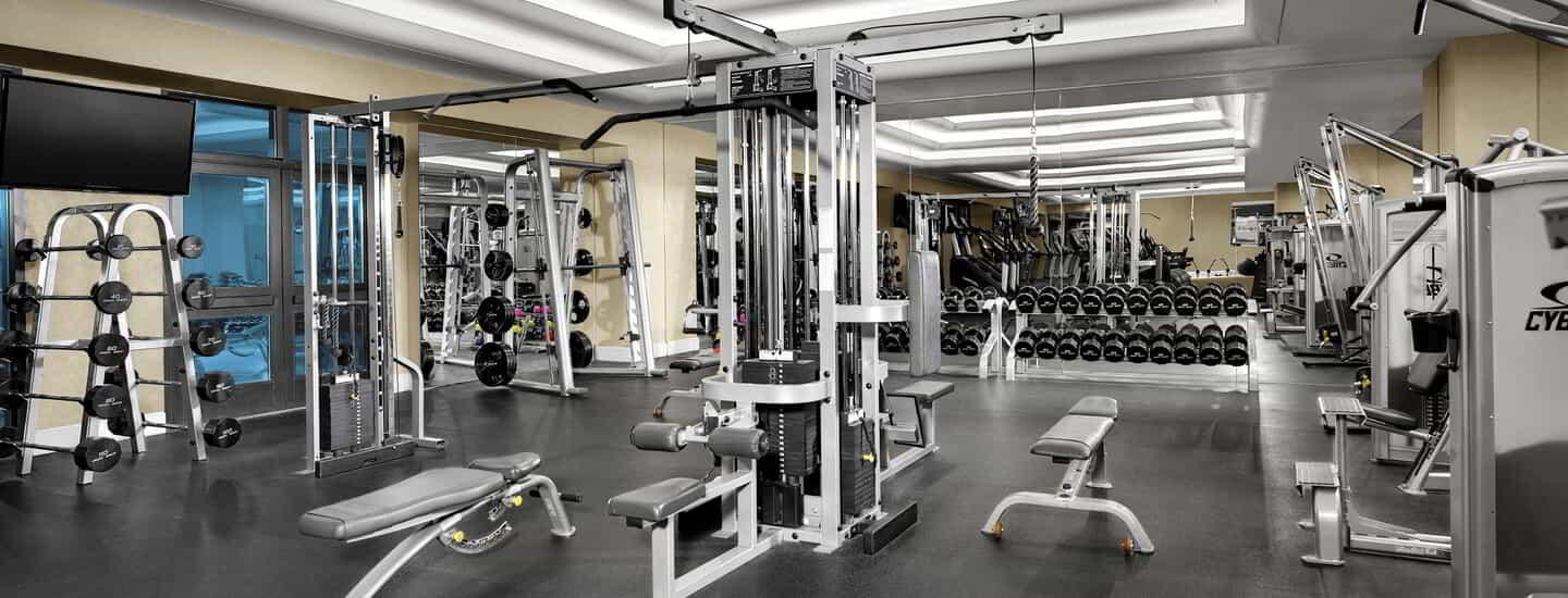 An interior of the gym.