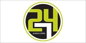 Website logo for the 24/7 Store.
