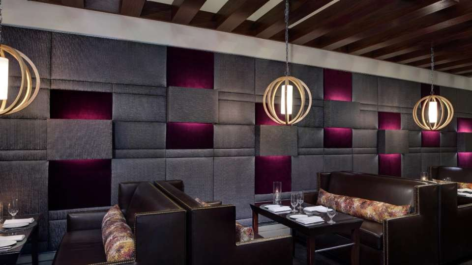 Aureole's lounge area provides an elegant and casual seating for an intimate social occasion.