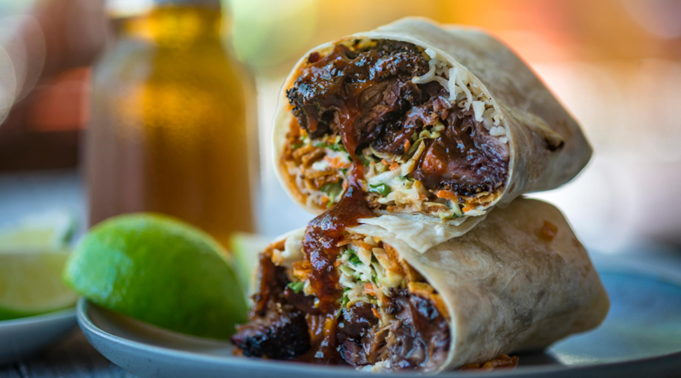 Burnt Ends Burrito, available at BBQ Mexicana.