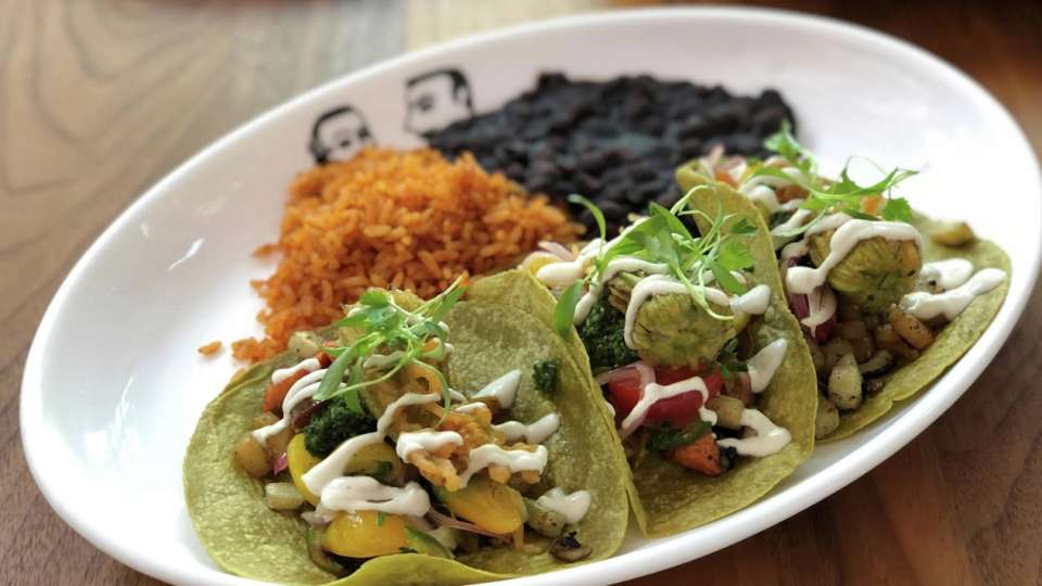 Border Grill at Mandalay Bay presents their roasted root vegetable tacos.