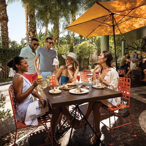 Welcome to the vibrant, modern Mexican restaurant overlooking the Lazy River just off Mandalay Beach, where Chefs Mary Sue Milliken and Susan Feniger, Food Network's