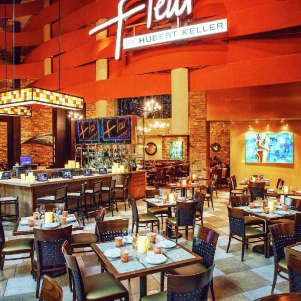 Enjoy casual dining in Fleur's  bar, lounge and patio seating.