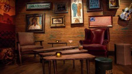 The lounge in B-Side at House of Blues.