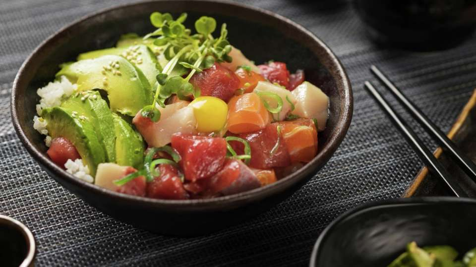 Sushi Poke from Mizuya at Mandalay Bay.
