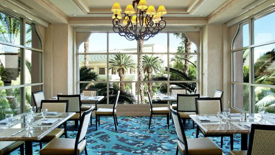 Enjoy the views in The Seabreeze Cafe Dining Room Overlooking the Mandalay Bay Beach.