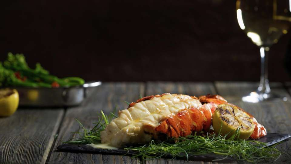 Lobster Tail from STRIPSTEAK at Mandalay Bay.