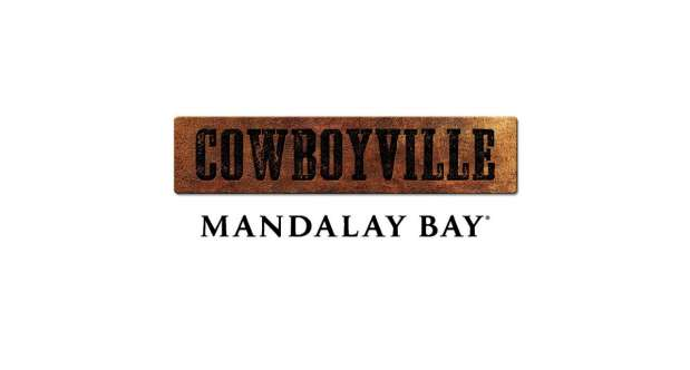 Cowboyville at Mandalay Bay Logo on white backdrop.