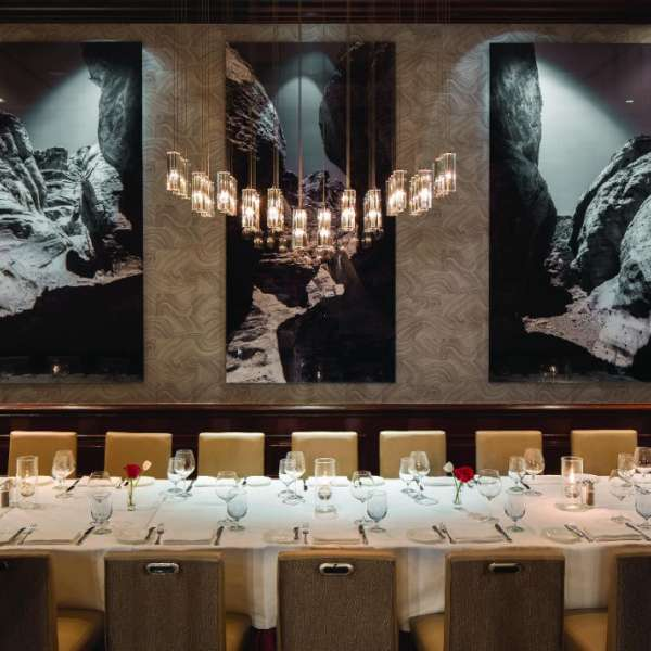 A view of the Charlie Palmer Steak – Group Dining, located at Four Seasons inside Mandalay Bay.