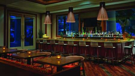 The Lounge Bar of Veranda restaurant located at Four Seasons, inside Mandalay Bay.