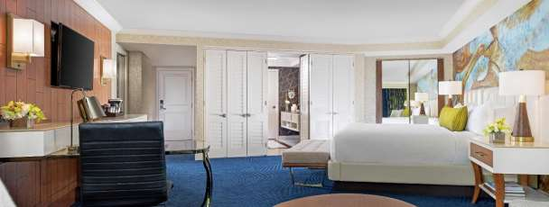 Relax away the day in the newly remodeled Bay King Suite.