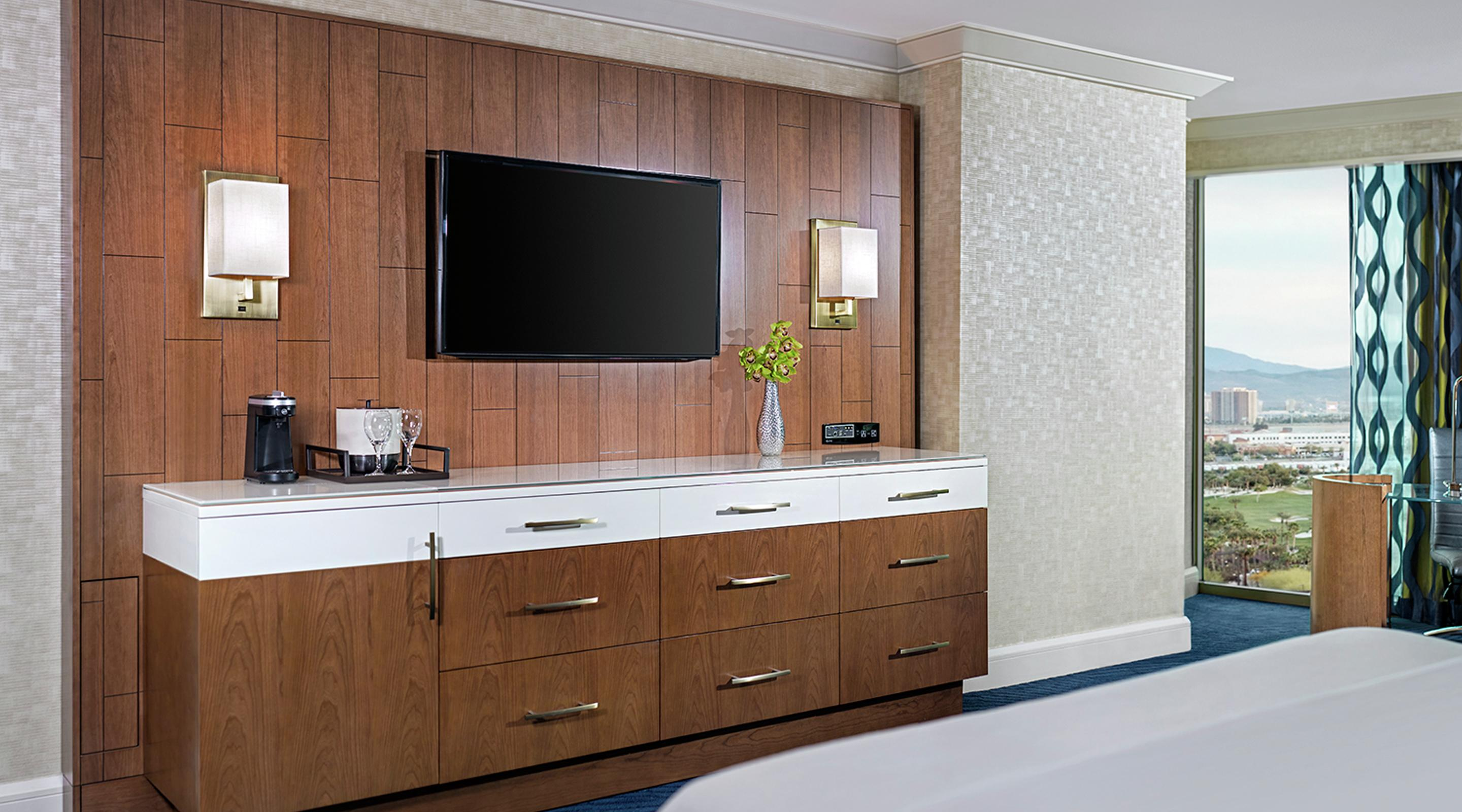 "Perfectly designed and contemporary in style including a 42"" LED TV"