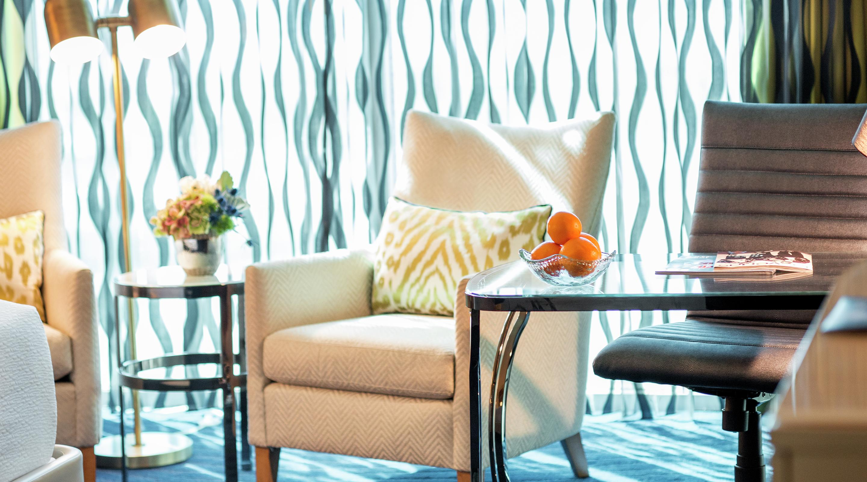 Boldly designed furnishings and plush textiles offer an experience that you'll love to call home during your stay.
