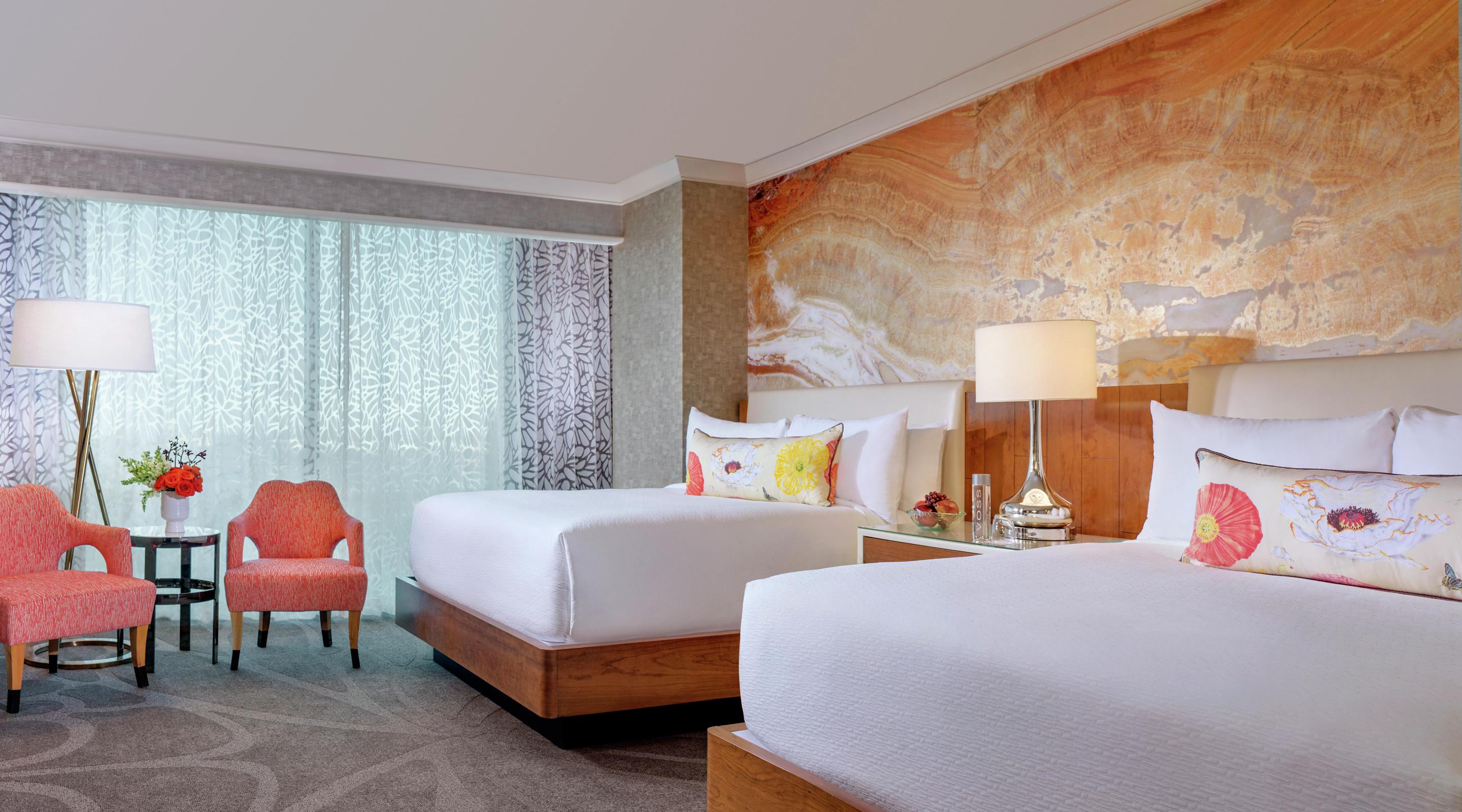 Bold statement furnishings and plush textiles offer an experience that you'll love to call home during your stay.