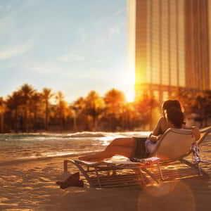mandalay-bay-amenities-pool-couple-sunset-resortist-campaign
