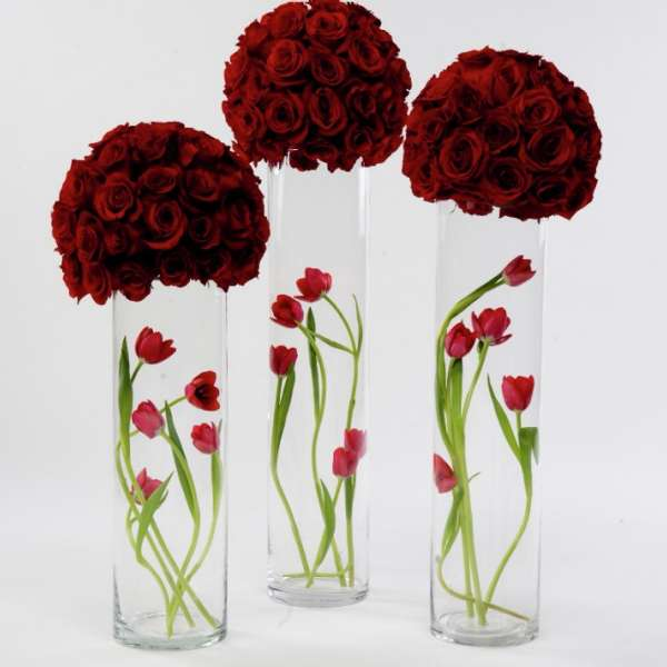 mandalay-bay-weddings-services-centerpiece-triple-vase-red-roses