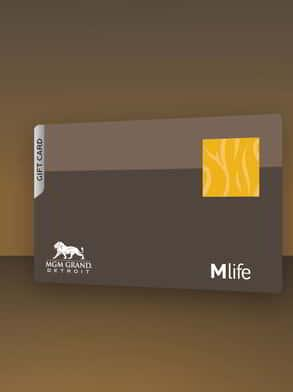 The MGM Grand Detroit gift card.
