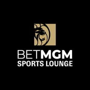 Logo for BetMGM Sports Lounge.