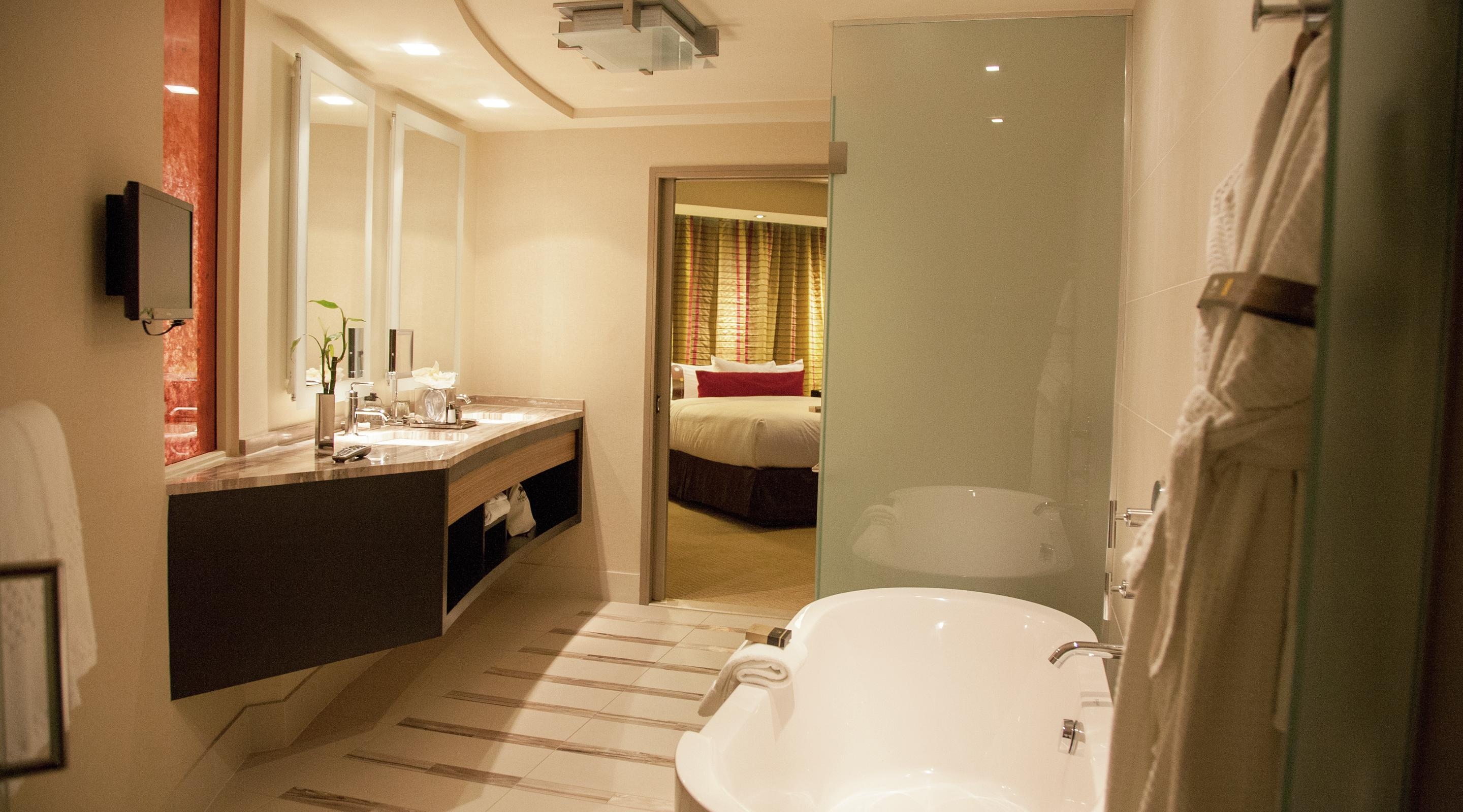 View of executive king bathroom.