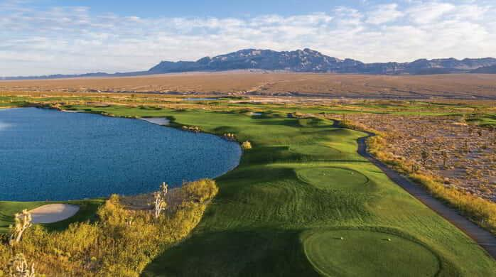The top view of Paiute golf course.
