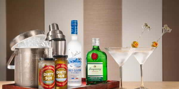 MGM Grand in-room amenities martini bar