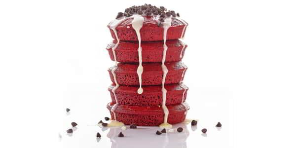Red Velvet Pancakes at Avenue Café
