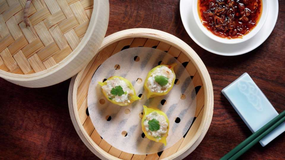 Image of Crab Dumplings dish at China Tang .