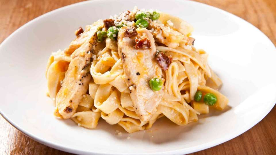 Fettucine Pasta Dish at CRUSH