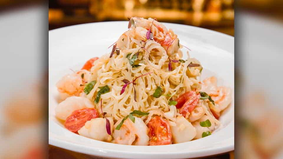 Linguini at Fiamma Trattoria & Bar