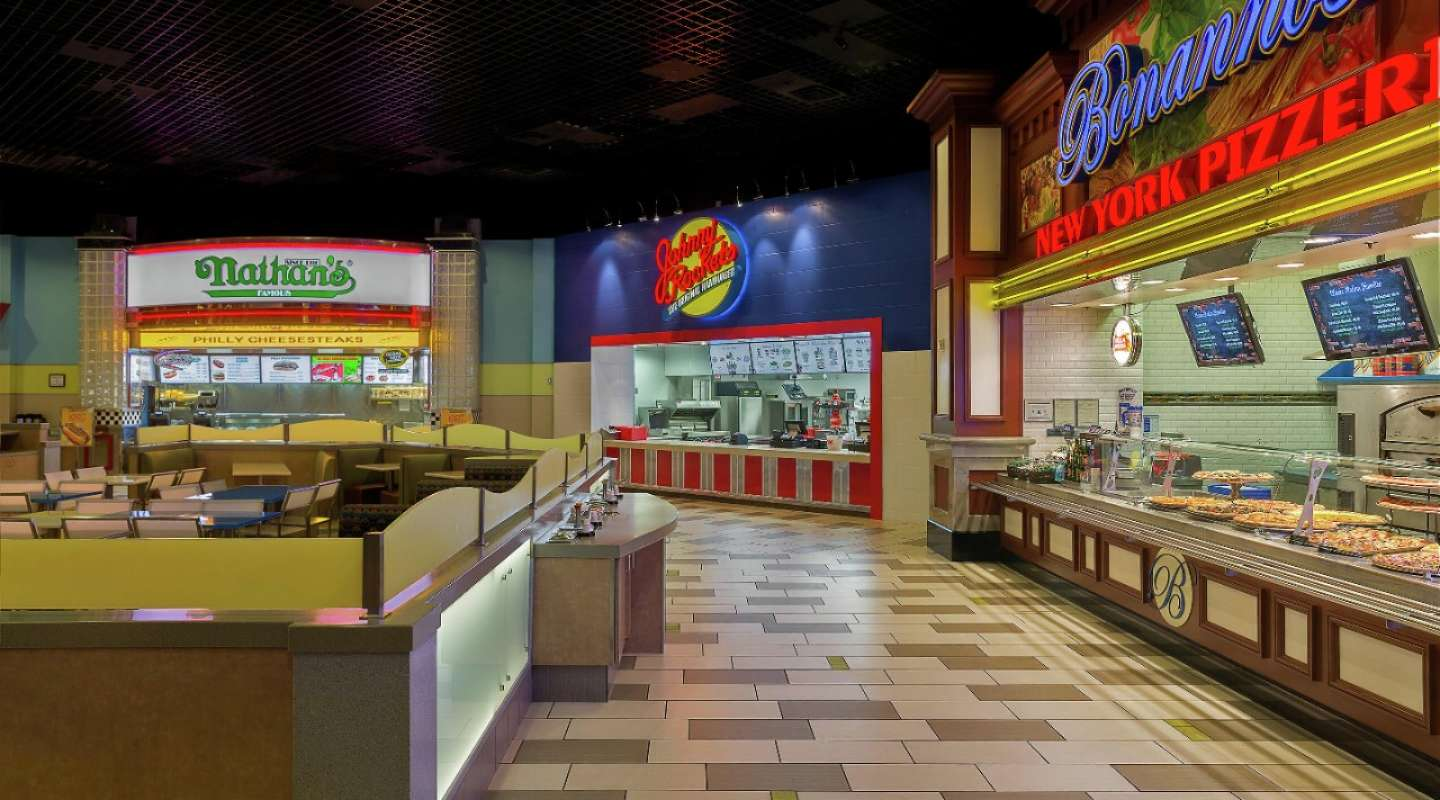 MGM Grand Food Court Exterior With Johnny Rockets.