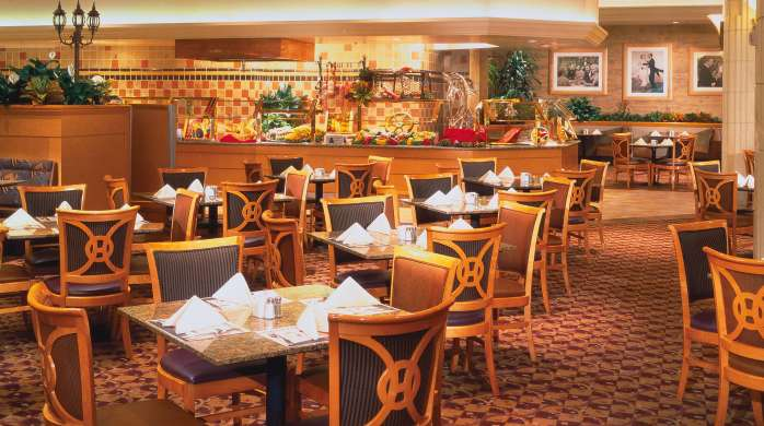 The dining room inside the Grand Buffet at MGM Grand