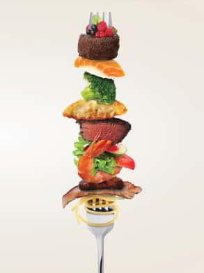 MGM Grand Buffet Campaign Creative Fork with Food