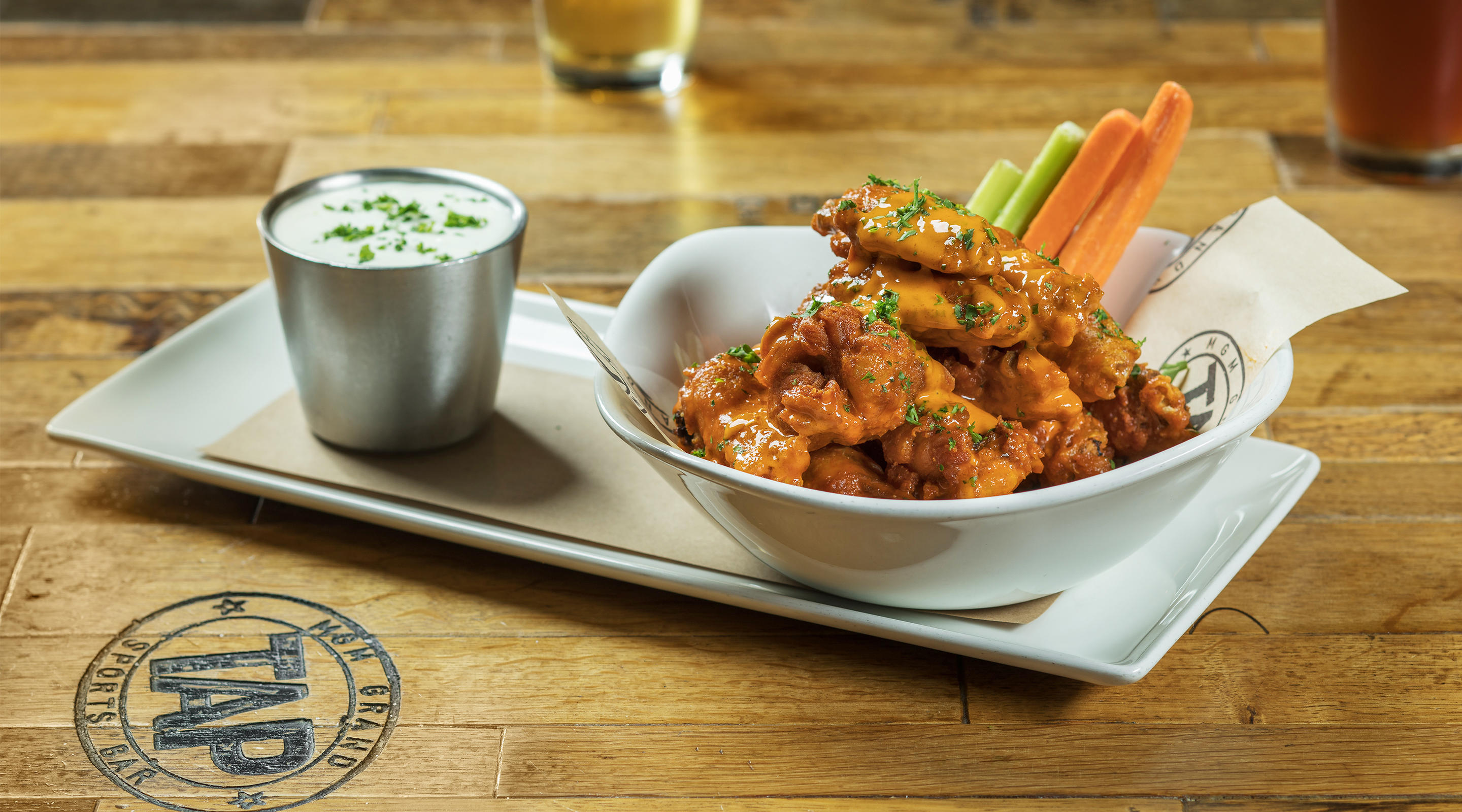 Buffalo wings at TAP.