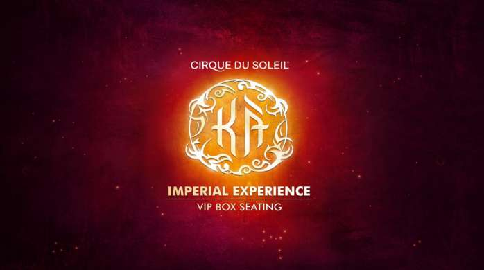 KÀ Imperial Experience VIP Box Seating is a luxury theatre experience featuring exclusive box seating, access to the VIP lounge, cast meet & greet and more.
