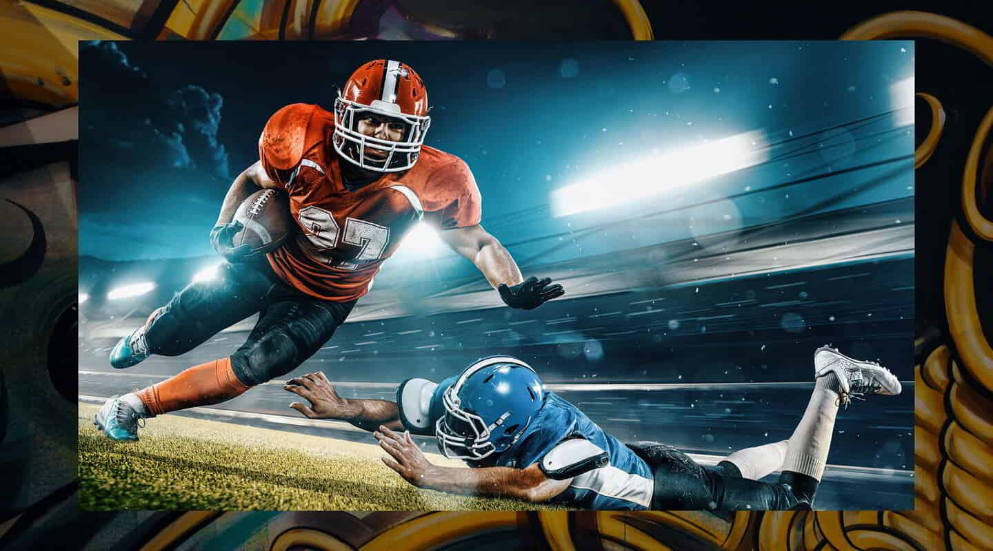 Catch football on multiple screens at Level Up inside MGM Grand.