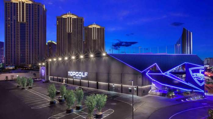 Exterior Hero Shot of Topgolf Las Vegas