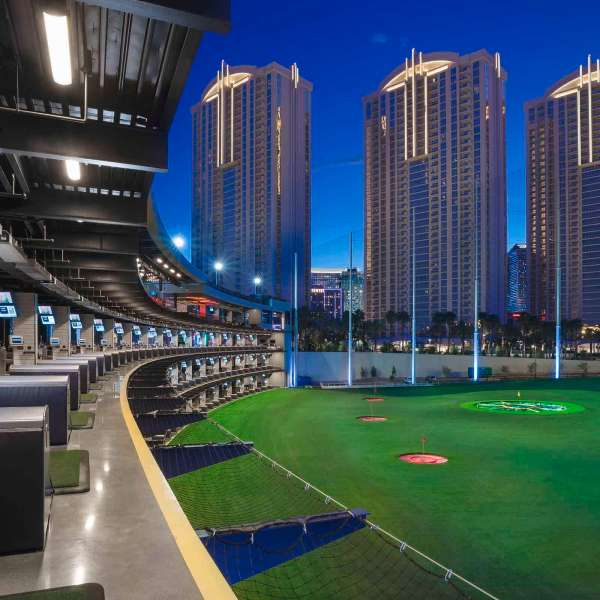 Exterior Shot of Hitting Bay at Topgolf Las Vegas