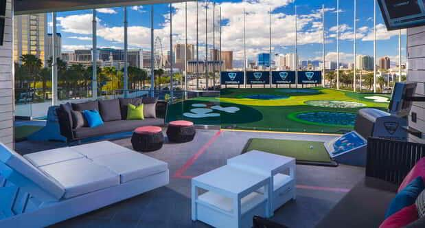 Interior Bay Shot at Topgolf Las Vegas