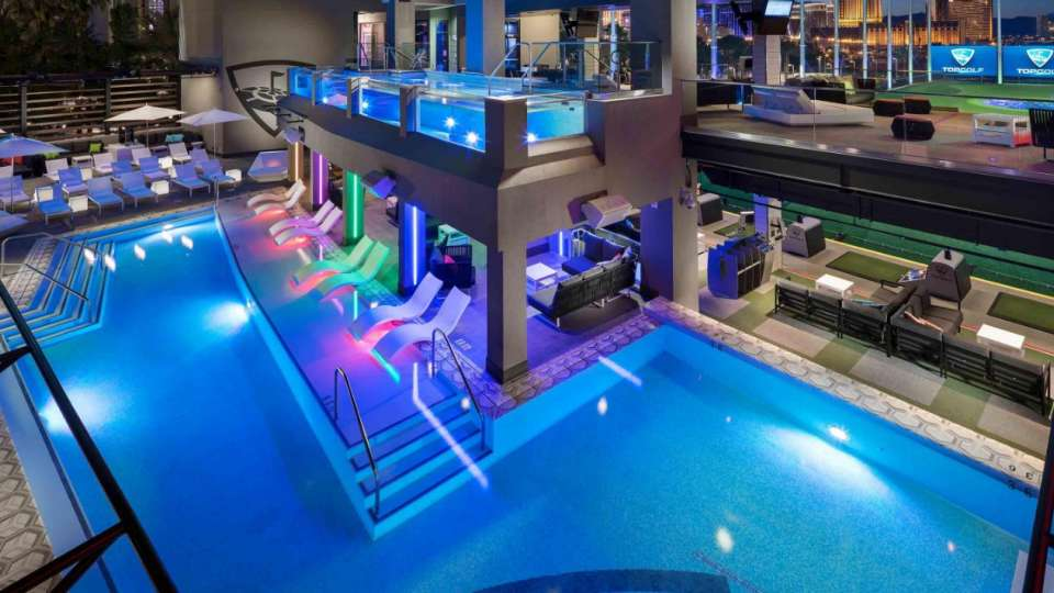 Overhead Pool Shot at Topgolf Las Vegas