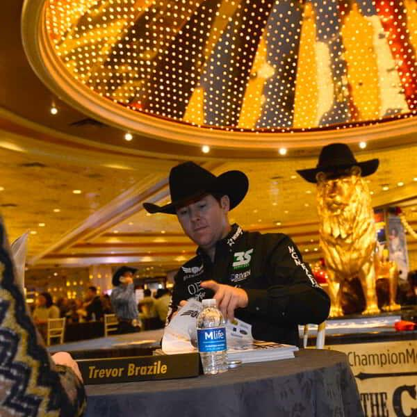 Autograph session during last year's National Finals Rodeo.