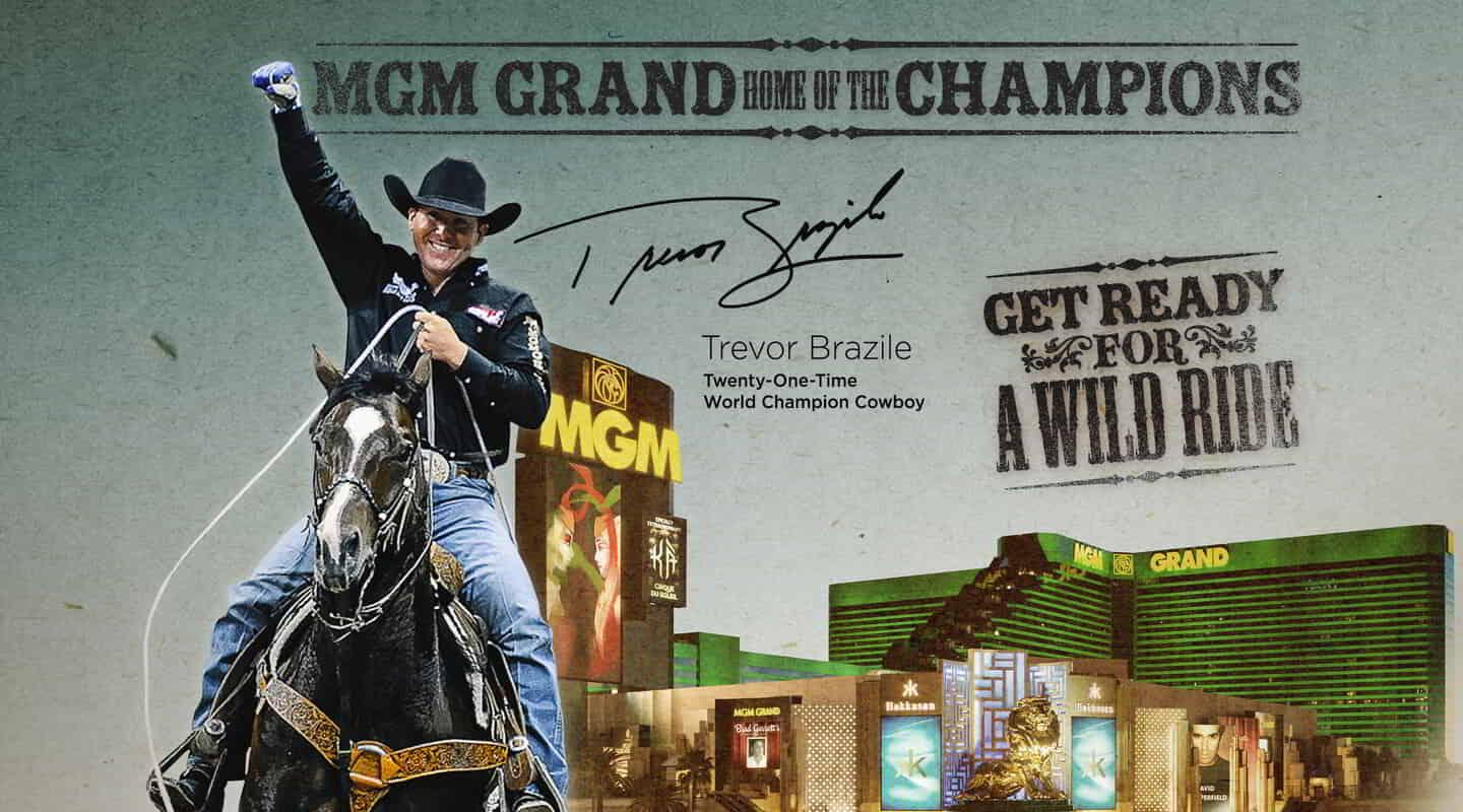 Trevor Brazile NFR MGM Home of the Champions