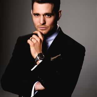 Michael Buble at MGM Grand with Hand On Chin