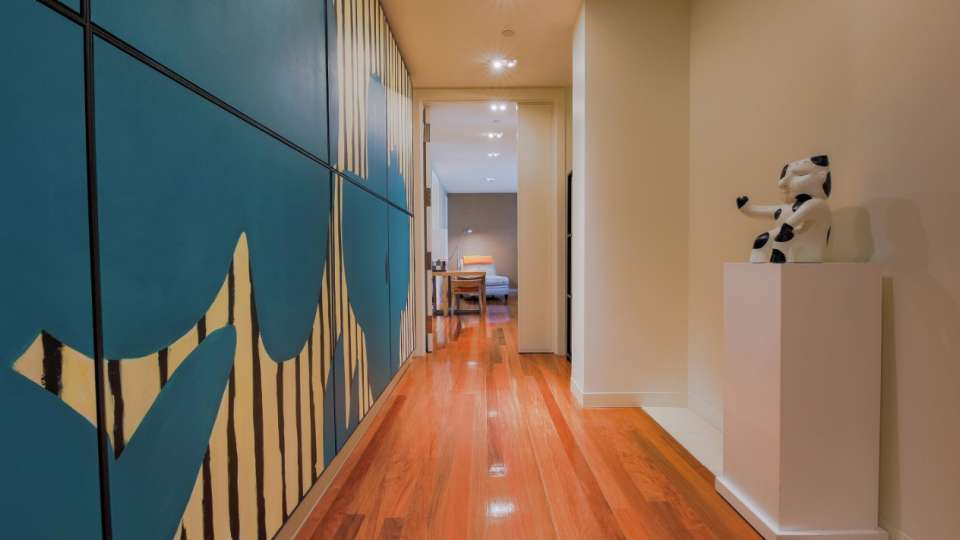 Hallway of a Two Bedroom Loft at SKYLOFTS.